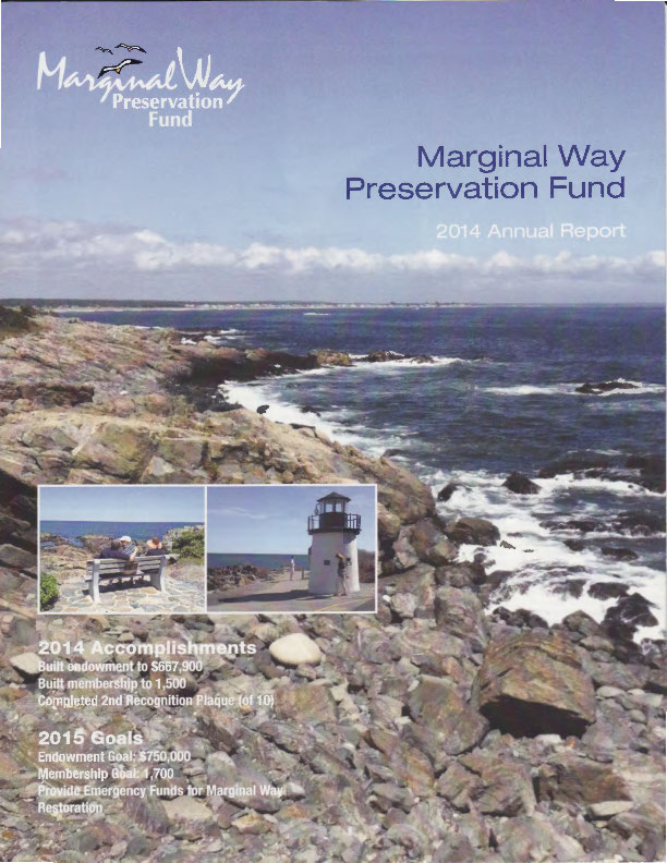 Cover of the 2014 Marginal Way Fund Annual Report