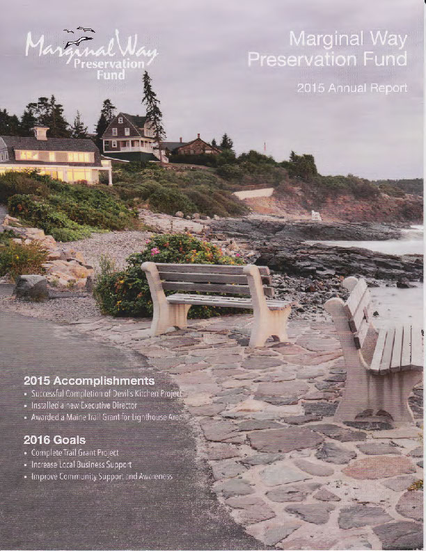 Cover of the 2015 Marginal Way Fund Annual Report