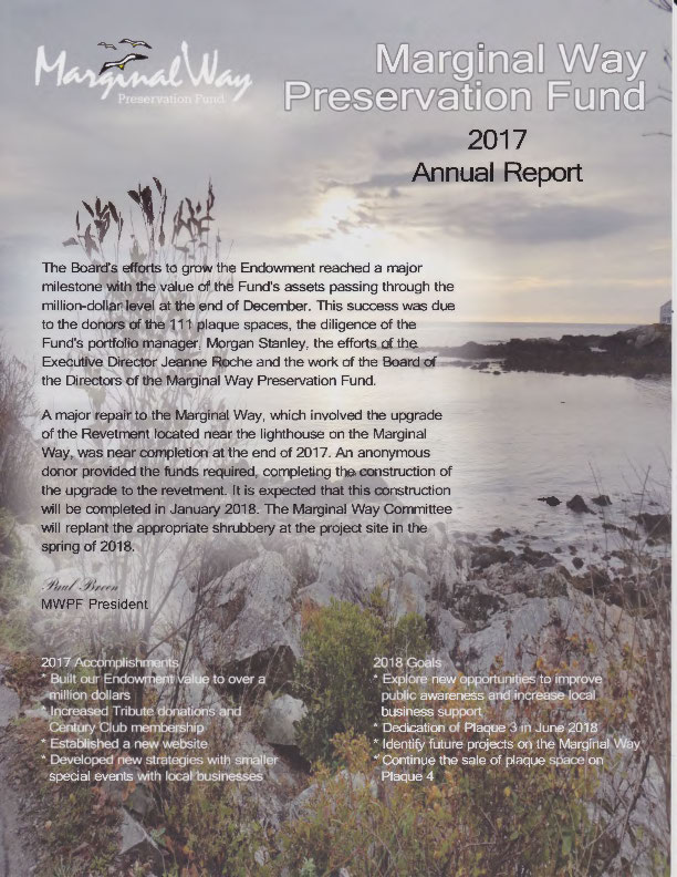 Cover of the 2017 Marginal Way Fund Annual Report