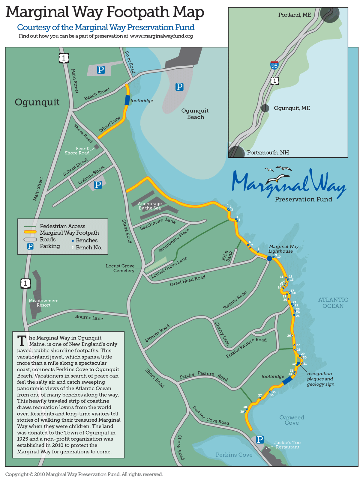 Ocean Park Maine Map.Map Marginal Way