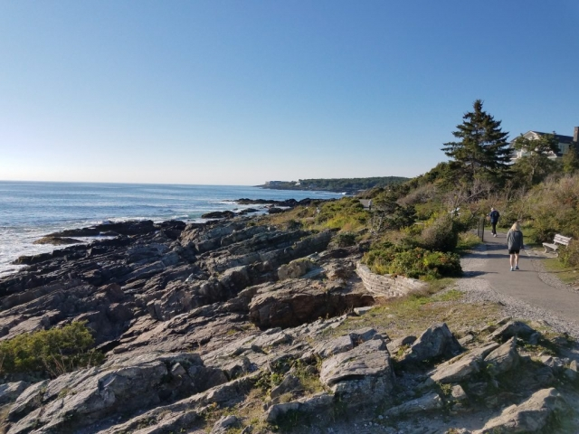 Image of part of the Marginal Way in Ogunquit.
